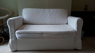 Superb Ikea Hagalund Two Seat Sofa Bed Beige 120 00 Picclick Uk Caraccident5 Cool Chair Designs And Ideas Caraccident5Info