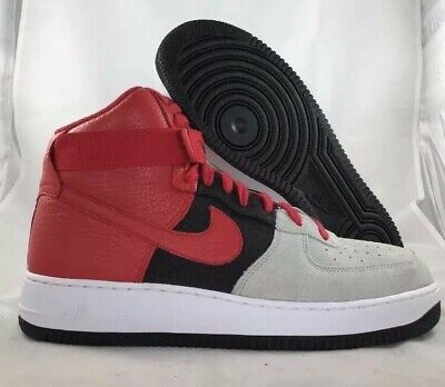 new product 47312 c20e7 Nike Air Force 1 High  07 LV8 Wolf Grey Red Black 806403-007 New
