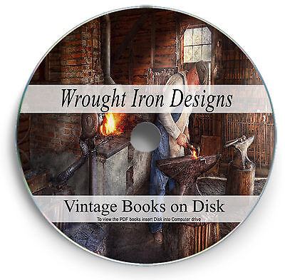 Wrought Iron Designs Rare Books DVD Blacksmith Gate Railings Fence Furniture 268