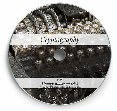 Rare Books on DVD  -  Cryptography Cryptology Secret Code Breaking Telegraph  F9