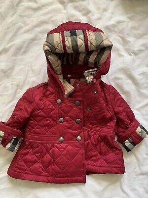 Burberry Newborn Quilted Pink Coat 6M