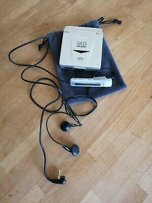 Sony Md Walkman Minidisc Player Mz-E33 Complete W/Remote Tested Working Bag