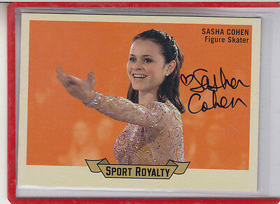 "2010 Superiore Deck Goodwin Sport Royalty Sasha Cohen "" Olympic Pattinatrice"