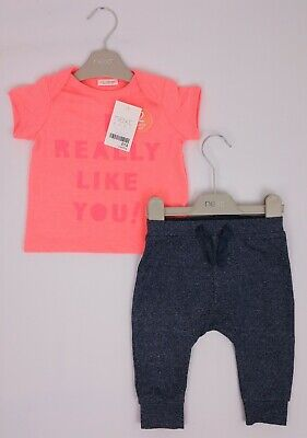 Baby GIrls Boys NEXT T-Shirt & Applique Tucan Joggers Outfit 3-6 Months BNWT
