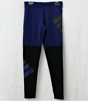 Adidas Girls Dark Royal Color Blocked Leggings Size M 10-12