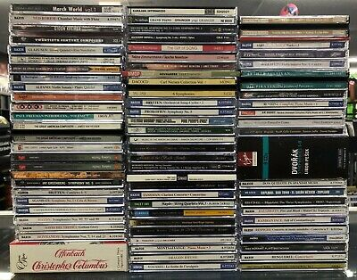 Lot Of Over 100 Classical Music CDs Imports Naxos, Nimbus, Dvorak, Britten