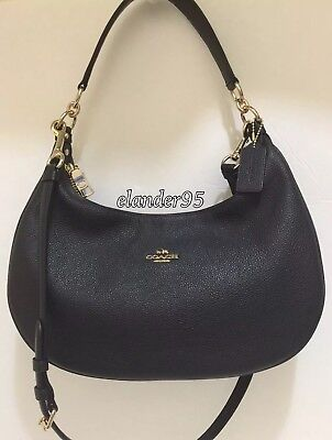 COACH HARLEY EAST WEST HOBO IN PEBBLE LEATHER F38250  F24468  F22548