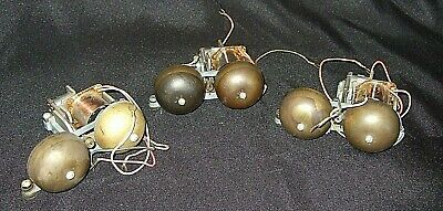 Lot of 3 Telephone Brass Bell Ringer-C4A-6-56-II-61-C4A-10-53