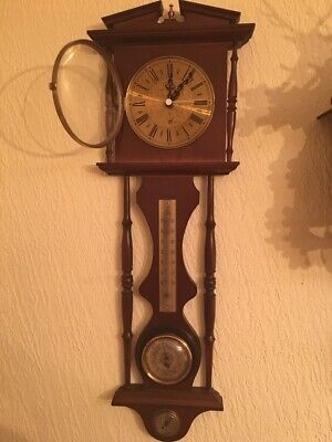 Vintage Antique wall  Barometer, Hygrometer And Thermometer Clock Free delivery