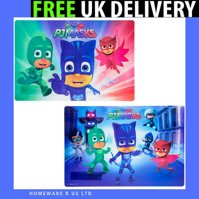 Boys Pj Masks 3D Placemat ( Dinner Table Mat Large ) Easy Clean Meals Lunch Tea