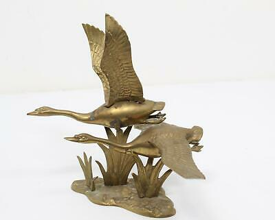Vintage Metal Flying Geese Brass Home Decor Collectible