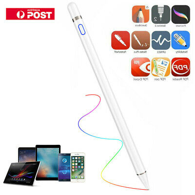 For Apple iPad Touchscreen Digital Active Stylus Pen Pencil Ultra Fine Tip 1.5mm