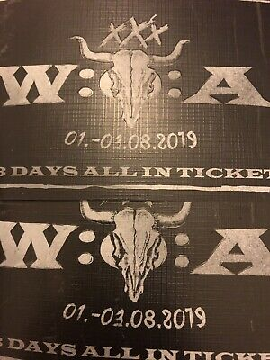 2 Tickets W:O:A xXx Wacken Open Air 2019 3 Tage All-In