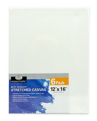 """Royal & Langnickel 12"""" x 16"""" Stretched Canvas Pack, 6 Piece"""