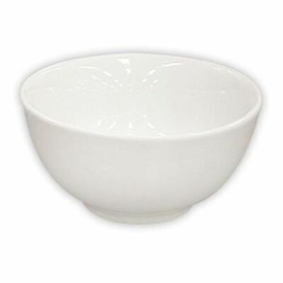 48x Rice/Noodle Bowl 112mm/240ml White Rolled Edge Longfine Classicware NEW