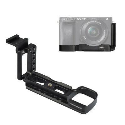 Quick Release L Plate Bracket Base Mount w/ cold shoe for Sony A6400 Vlog Camea