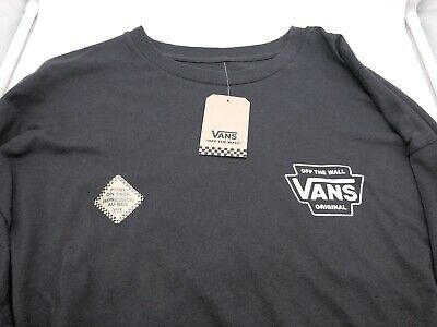 83f324c628b1 Vans Off The Wall Long Sleeve Checker Logo Gray Long Sleeve T Shirt XL