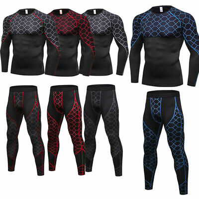 Men's Compression Base layer Athletic Tights Workout Gym Training Shirts Dri-fit
