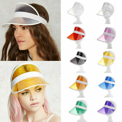 2019 Summer PVC Hat Sun Visor Party Casual Hat Clear Plastic Adult Sunscreen Cap