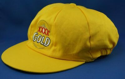 Cricket Cap Original XXXX Gold Beer Yellow Hat Adult Size NEW(Baggy Green Style)