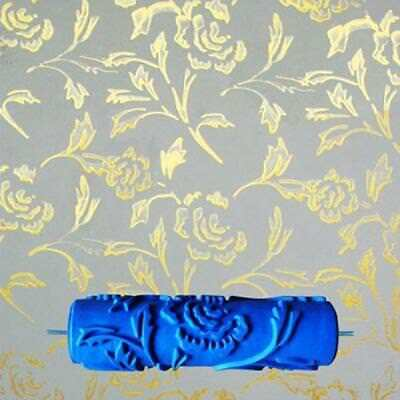 7inch Rubber Painting Roller Patterned Wall Decoration 3D Flower Style