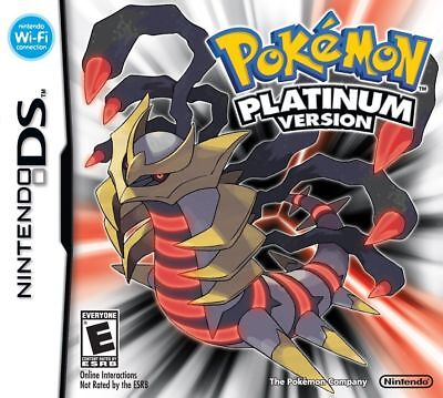 Hot Pokemon Platinum Nintendo DS Game NDS Lite DSi 2DS 3DS XL A F01