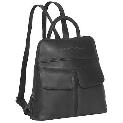 5a950c7195aad The Chesterfield Brand Wax Pull Up Evi City Rucksack Leder 29 cm (black)