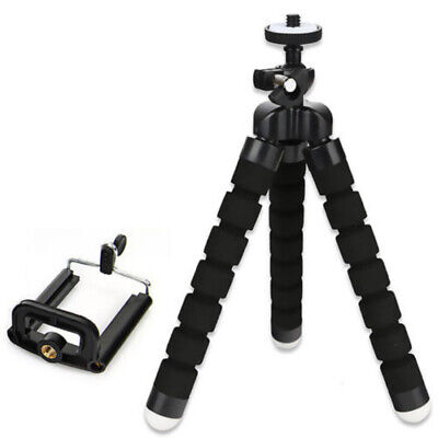 Universal Flexible Mini Portable Stand Tripod For Smart Phone +Free Holder Black