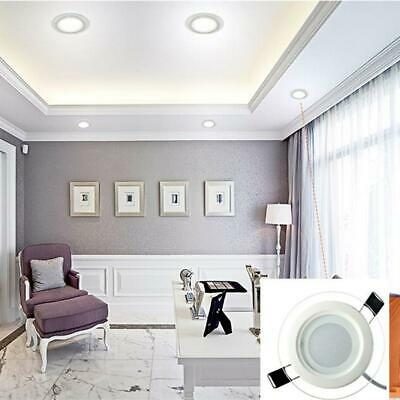 Dimmable LED Glass Downlight Round Glass Panel Lights Ceiling Recessed Lamp BR