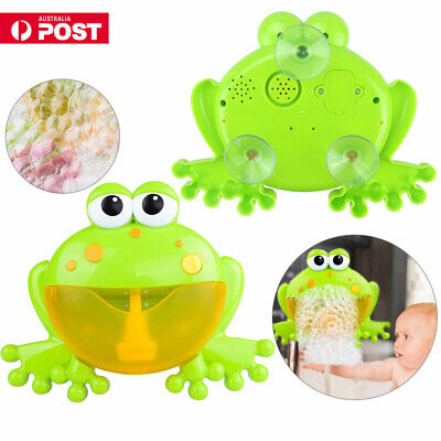 Bubble Machine Tub Crab Frog Automatic Bubble Maker Blower Music Songs Bath Toy