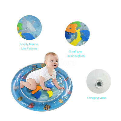 PVC Round 55*55cm Baby Inflatable Water Play Mat Infants Toddlers Fun Tummy Time