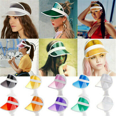 Summer PVC Hat Sun Visor Party Casual Hat Clear Plastic Adult Sunscreen Cap Gift