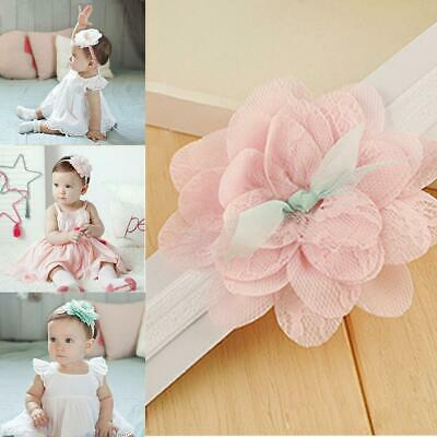 Baby Girl Toddler Lace Flower Hair Band Headwear Kids Headband Accessories BR
