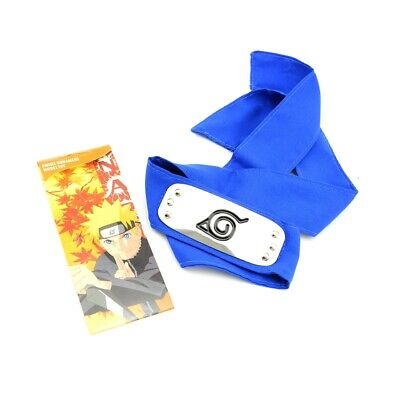 Naruto Hokage Konoha Ninja Leaf Village Logo Blue Headband for Anime Cosplay