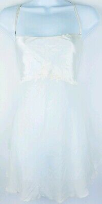 Victorias Secret Womens Pearl White Floral Babydoll Teddy Lingerie Size Large