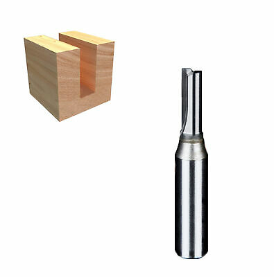 1/2'' x 5mm x 22mm TCT double flute straight router bit tool