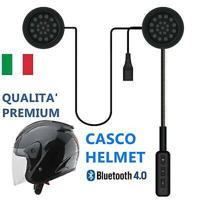 Cuffia Auricolare Helmet Bluetooth Headset Per Casco Moto Interno Interfono It
