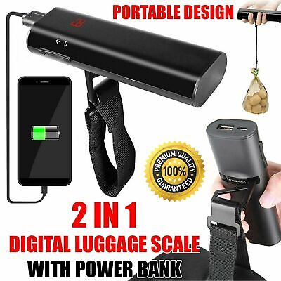 Digital 40kg Travel Luggage Scale with 4000mAh – 5200mAh Fast Charge Power Bank