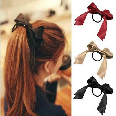 Women Ponytail Holder Accessories Elastic Bow Tie Hair Ties Band Ropes RLWH