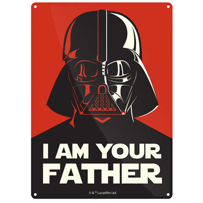 Star Wars Darth Vader I Am Your Father Small Tin Sign - 21cm x 15cm