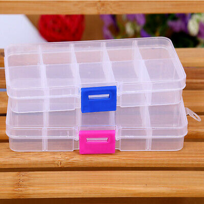 5x10 Detachable Compartment Rhinestones Box Case Crafts Nail Art Tips Storage PA