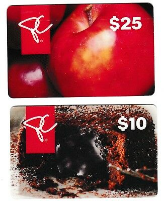 2 Collectible PRESIDENT'S CHOICE gift cards Canada cake apple