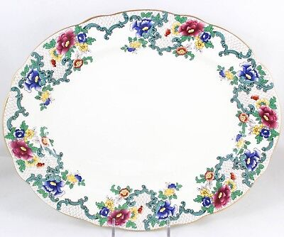 Antiques Antique Embossed Beading Scalloped La Francaise Porcelain Strawberry Bowl Excell Decorative Arts