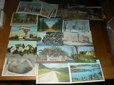 Lot of 55 Vintage Postcards,1900s-1980s. 20+ are Pre-1960 Used And Unused P1292