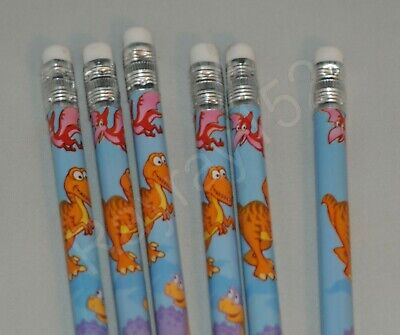 Dinosaur Dino stationery Pencils with rubber for school / party filler bags