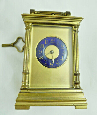 ANTIQUE  19th century CARRIAGE CLOCK ALARM SVEGLIA OROLOGIO TAVOLO CAPPUCCINA