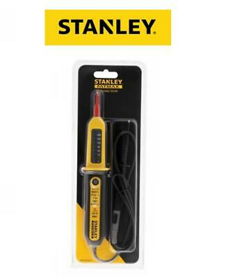 STANLEY Electrical Voltage AC/DC LED Circuit 2 Pole Tester Pen Volt Stick 082566