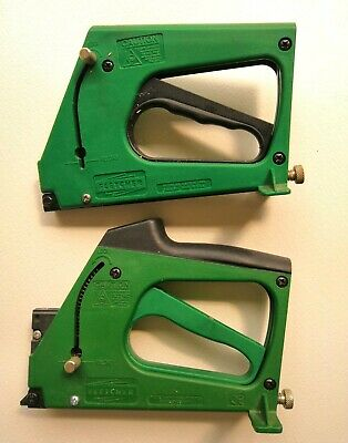 2 x FLETCHER FRAMEMASTER PICTURE FRAMING POINT GUNS EXCELLENT LOW USED CONDITION