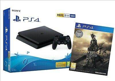 Nuova Sony Console 500Gb Ps4 Chassis Slim F + Final Fantasy Xiv Shadowbringer !