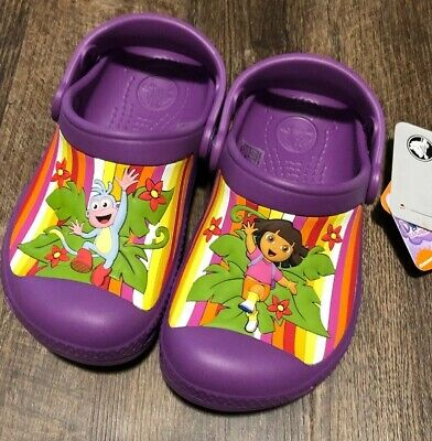 6fe2935a9df NEW Girls' Creative Crocs Dora the Explorer Ballet Kids Clogs Shoes 4/5 10
